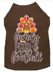Dog Shirts: Thanksgiving Screen Print Dog Shirt in Various Colors & Sizes by MiragePetProducts - FAMILY, FOOD, FOOTBALL