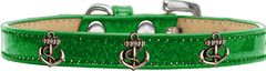 Dog Collars: Ice Cream Dog Collar with Cute BRONZE ANCHOR Widgets in Different Colors and Sizes by Mirage USA