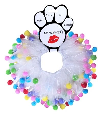 Smoochers Dog Collars: BIRTHDAY FUZZY WUZZY Smoocher Dog Collar/Dog Scrunchies