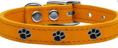 Leather Dog Collars: Genuine Leather Dog Collar in Different Colors by Mirage Pet Products - PAWS