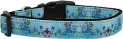 Dog Collars: Nylon Ribbon Collar DREAMY BLUE by MiragePetProducts - Matching Leash Sold Separately