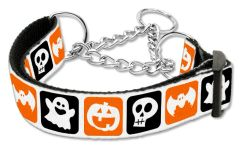 Martingale Dog Collars: HALLOWEEN CLASSIC Nylon Ribbon Dog Collar Mirage Pet Products USA