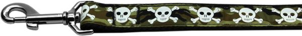 Nylon Dog Leashes: CAMO SKULLS Nylon Dog Leash Mirage Pet Products USA