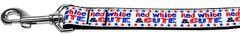 Nylon Dog Leashes: RED, WHITE & CUTE Nylon Dog Leash Mirage Pet Products USA