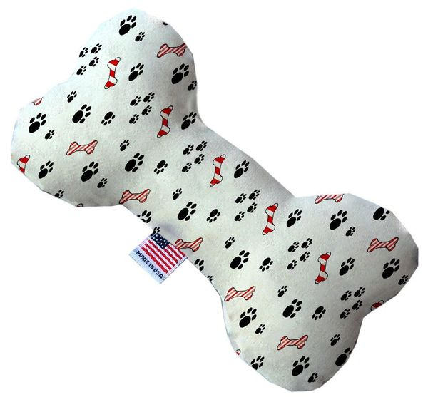 PET TOYS: Soft Durable Fabric or Canvas Bone Shape Pet Toy SWEET PAWS in 3 Sizes Made in USA by MiragePetProducts