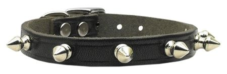 Spike Dog Collars: Genuine Leather Dog Collar Mirage Pet Products USA - SPIKE