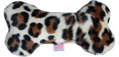 "PET TOYS: Plush Fabric 6"" Bone Shape Pet Toy TOY JAGUAR Made in USA by MiragePetProducts"