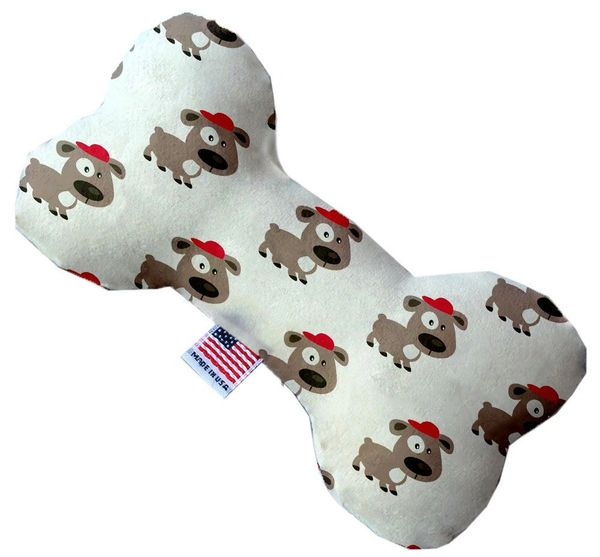 PET TOYS: Stuffing Free Plush Bone Shape Pet Toy with Squeakers FRESH PUPS in 3 Sizes MiragePetProducts