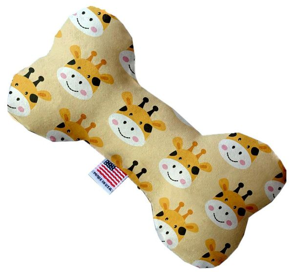 PET TOYS: Stuffing Free Plush Bone Shape Pet Toy with Squeakers GEORGIE THE GIRAFFE in 3 Sizes MiragePetProducts