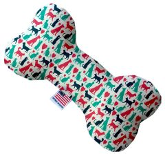 PET TOYS: Stuffing Free Plush Bone Shape Pet Toy with Squeakers PUPS & KITS in 3 Sizes Made in USA by MiragePetProducts