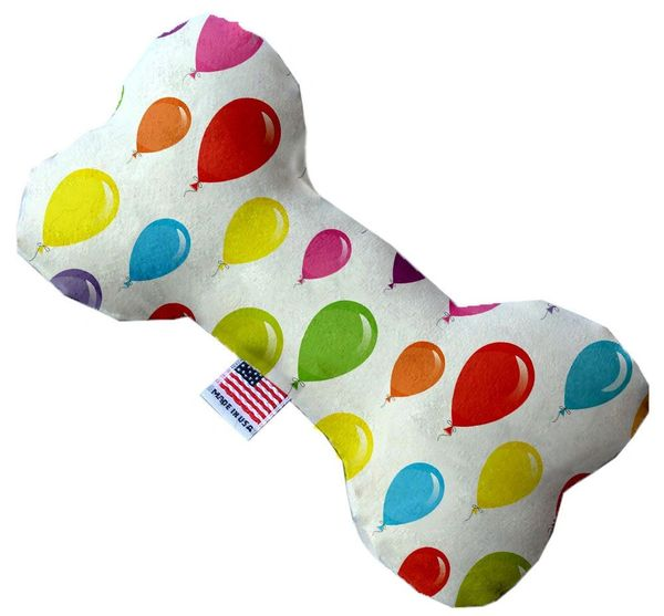 PET TOYS: Stuffing Free Plush Bone Shape Pet Toy with Squeakers BALLOONS in 3 Sizes Made in USA by MiragePetProducts