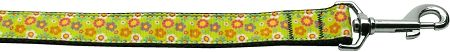 Nylon Dog Leashes: Lime Spring Flowers Nylon Dog Leash Mirage Pet Products USA