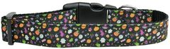 Holiday Dog Collars: Nylon Ribbon Collar by Mirage Pet Products USA - HALLOWEEN CONFETTI