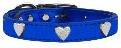 Metallic Leather Dog Collars: Leather Dog Collar MiragePetProducts - METALLIC HEARTS