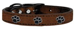 Metallic Leather Dog Collars: Metallic Genuine Leather Dog Collar MiragePetProducts - PAWS