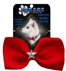 DOG BOW TIE: SILVER STAR Widget Pet Bow Tie in 13 Different Colors by MiragePetProducts