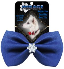 DOG BOW TIE: Cute SNOWFLAKE Widget Pet Bow Tie in 13 Different Colors by MiragePetProducts