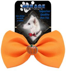 DOG BOW TIE: Cute PUMPKIN Widget Pet Bow Tie in 13 Different Colors by MiragePetProducts