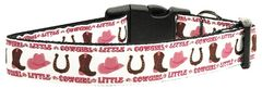 Dog Collars: Nylon Ribbon Collar by Mirage Pet Products USA - LITTLE COWGIRL