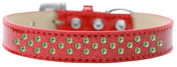 BLING DOG COLLARS: Beautiful LIME GREEN SPRINKLE CRYSTALS ICE CREAM Dog Collar in Various Sizes & Colors