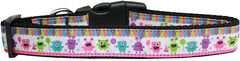 Dog Collars: Nylon Ribbon Dog Collar PARTY MONSTERS - Matching Leash Sold Separately