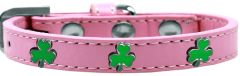 Widget Dog Collars: Cute SHAMROCK WIDGET Dog Collar in Various Sizes and Colors