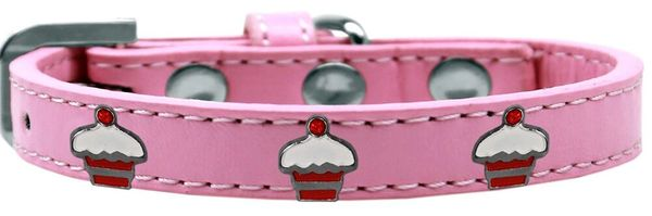 Widget Dog Collars: Cute RED CUPCAKES WIDGET Dog Collar in Various Sizes and Colors