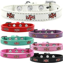 Widget Dog Collars: Cute PEPPERMINT WIDGET Dog Collar in Various Sizes and Colors