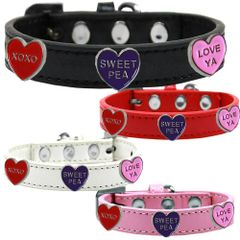 Widget Dog Collars: Cute CONVERSATIONAL WIDGET Dog Collar in Various Sizes and Colors