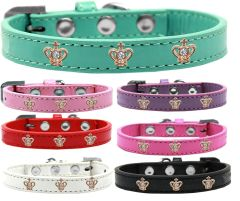 Widget Dog Collars: Cute GOLD CROWN WIDGET Dog Collar in Various Sizes and Colors