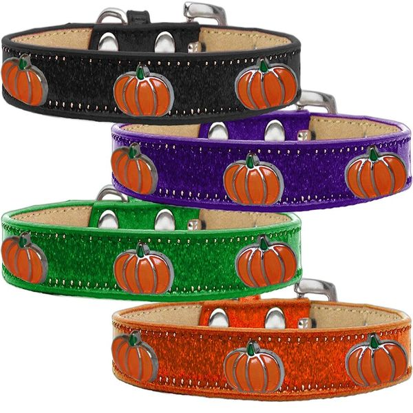 Widget Dog Collars: Ice Cream Dog Collar with PUMPKIN Widgets in Various Colors & Sizes