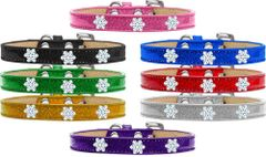 Widget Dog Collars: Ice Cream Dog Collar with SNOWFLAKE Widgets in Various Colors & Sizes