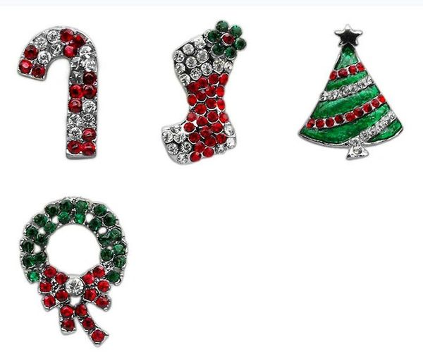 """Pet Charms: 3/8"""" (10mm) Choice HOLIDAY CRYSTAL SLIDING CHARM to Slide onto Pet Collar in 4 Different Designs"""