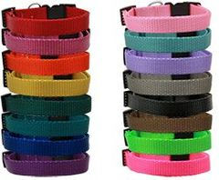 Dog Collars: PLAIN Nylon MARTINGALE Dog Collar in Various Colors & Sizes