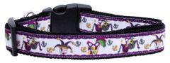 Dog Collars: Nylon Ribbon dog collar by MiragePetProducts - MARDI GRAS