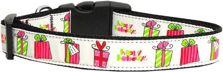 Dog Collars: Nylon Ribbon Cat/Dog collar ALL WRAPPED UP - Matching Leash Sold Separately