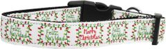 Dog Collars: Nylon Ribbon Dog Collar Mirage Pet Products - FELIZ NAVIDAD