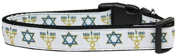 Dog Collars: Nylon Ribbon CAT/Dog Collar JEWISH TRADITIONS - Matching Leash Sold Separately