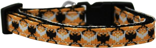 Dog Collars: Nylon Ribbon CAT/Dog Collar BAT ARGYLE - Matching Leash Sold Separately