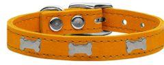 Leather Dog Collars: Dog Collar Various Sizes & Colors USA - SILVER BONE WIDGETS