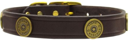 Leather Dog Collars: Genuine Leather Dog Collar Mirage Pet Products - SHOTGUN SHELL