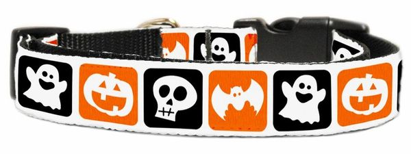 Dog Collars: Nylon Ribbon CAT/Dog collar CLASSIC HALLOWEEN - Matching Leash Sold Separately