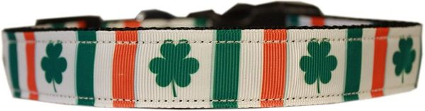 Dog Collars: Nylon Cat/Dog Ribbon Collar IRISH PRIDE - Matching Leash Sold Separately