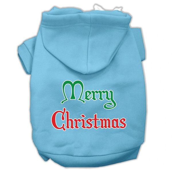 Dog Hoodies: MERRY CHRISTMAS Screened Print Dog Hoodie in Various Colors & Sizes