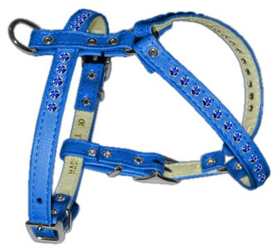 Comfort Dog Harnesses: Fashionable Crystal Comfort Dog Harness in Several Sizes & Colors