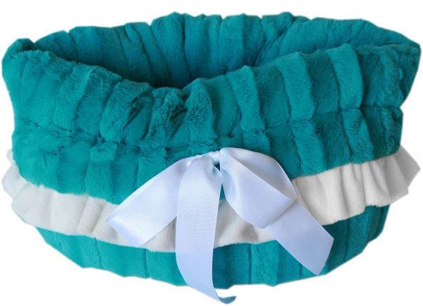 Dog Bed/Car Seat: Reversible Snuggle Bugs Pet Bed, Bag, Car Seat in (6) Different SOLID COLORS