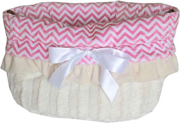 Dog Bed/Car Seat: Reversible Snuggle Bug Pet Bed, Bag, Car Seat in (2) CHEVRON COLORS