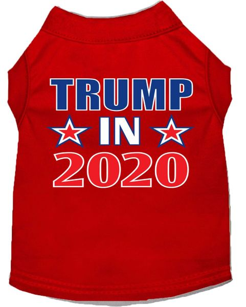 Dog Shirts: Political Dog Shirt Screen Print in Various Colors & Sizes - TRUMP IN 2020