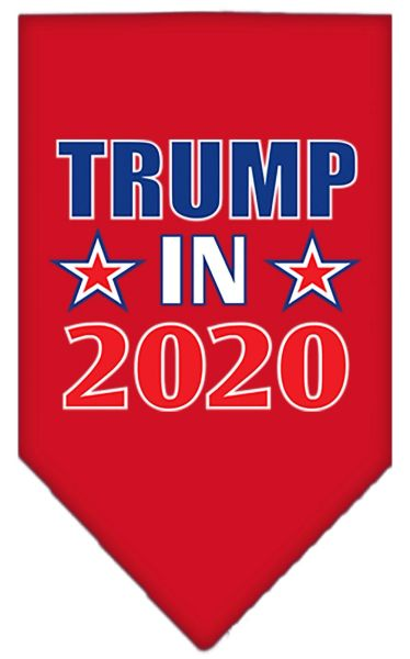 Dog Bandanas: Screen Print Cotton Dog Bandana TRUMP IN 2020 in Various Colors