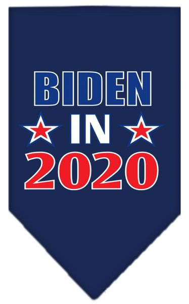 Dog Bandanas: Screen Print Cotton Dog Bandana BIDEN IN 2020 in Various Colors